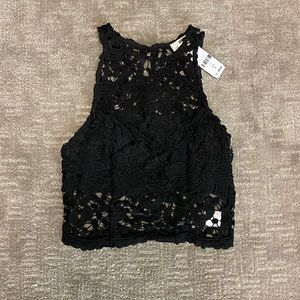 NWT LF Lace Crop Top